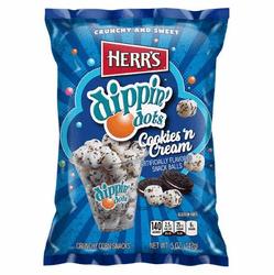 herr s reg dippin dots cookies n cream snack balls 12 5 oz bags per case 7 1 3