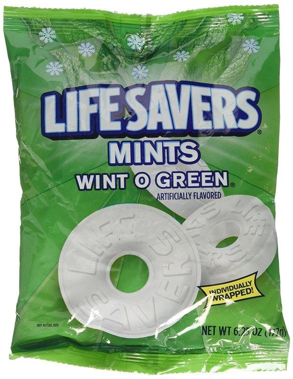 lifesavers mints wint o green 177 bag