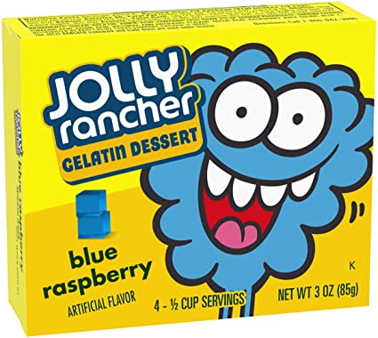 Jolly Rancher Gelatin Dessert Blue Raspberry