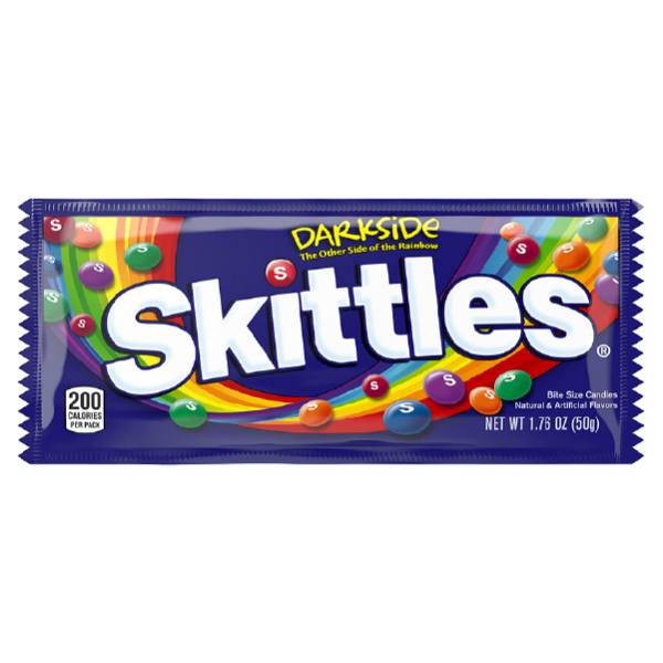 Packet of skittles darkside sweets
