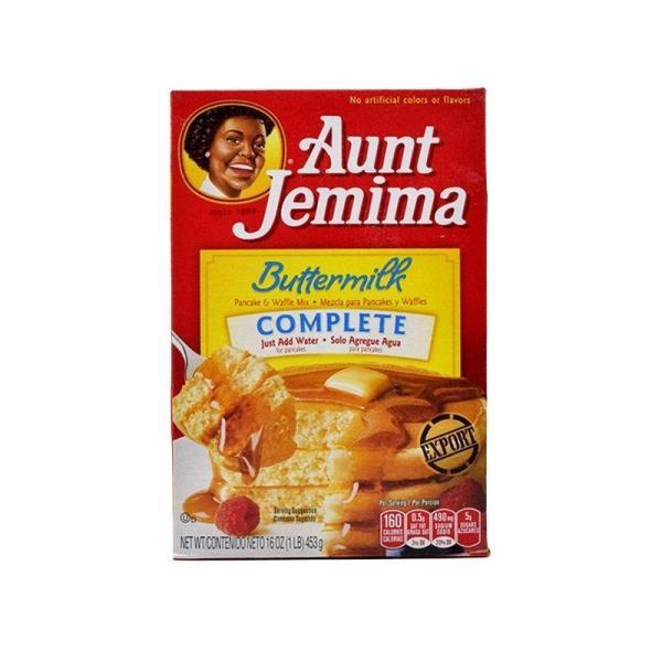 Box of Aunt Jemima Buttermilk Pancake Mix