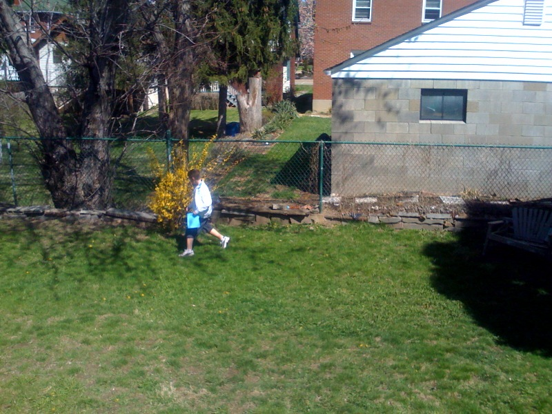 We even managed a modest egg hunt in the backyard for our young cousins.