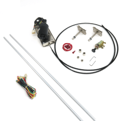 Heavy Duty Power Windshield Wiper Kit with Switch and
