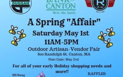 """""""A Spring Affair""""  Hosted by the Blue Hills Booster Club"""