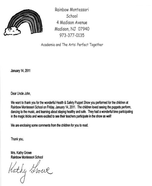 preschool recommendation letter