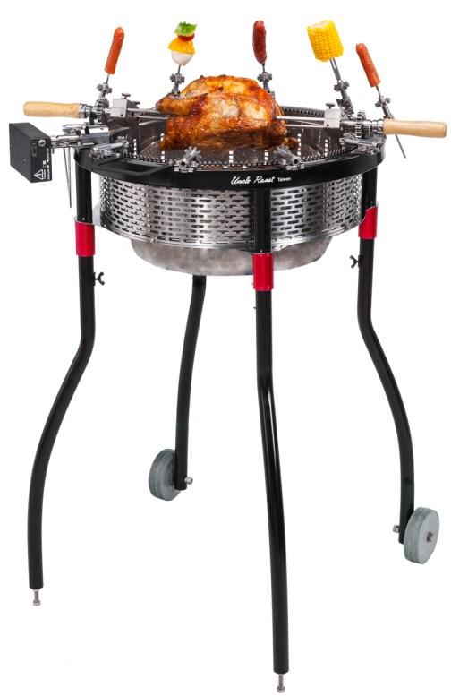 Uncle Roast BBQ Grill - wheels - Roast Chicken 夯伯燒烤爐 烤肉爐 含腳架 輪子 烤雞