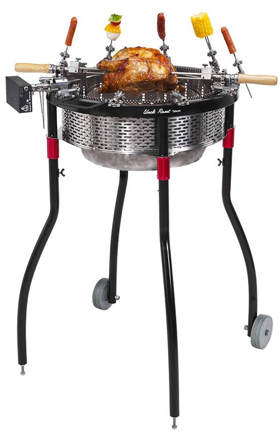 URC40002夯伯燒烤爐-烤肉架-烤雞-含輪子-腳架-去背