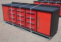 12 Drawer 10 FT Red Steel Work Bench - Uncle Wiener's ...