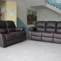 Almafi 2 Piece Leather Sofa Set And Love Seat Small Modular 3 Pcs Black Or Brown Bonded Furniture Couch