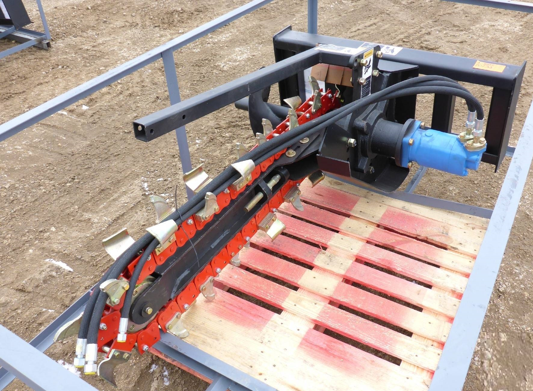 SKID STEER TRENCHER 48 INCH ATTACHMENT TRENCHER  Uncle Wieners Wholesale