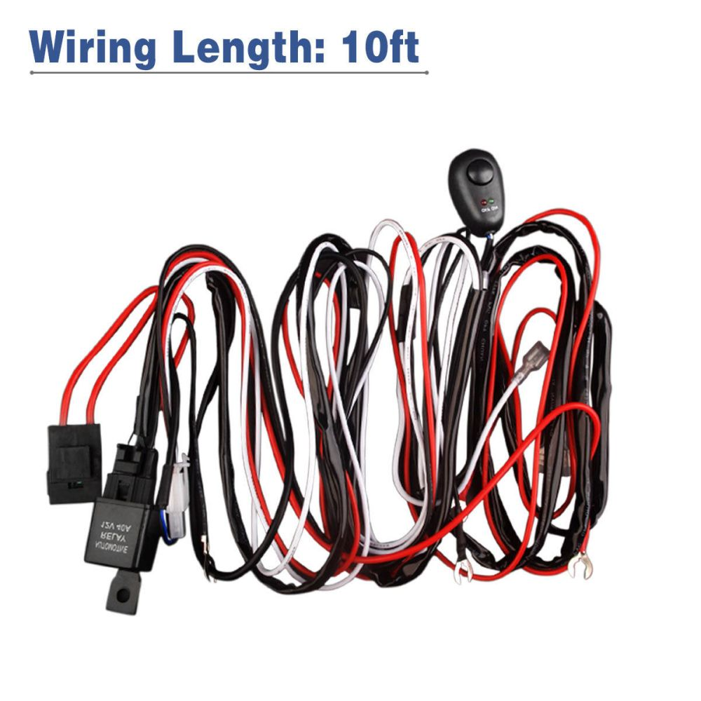 medium resolution of led light bar wiring harness double wire single wire remote controlled