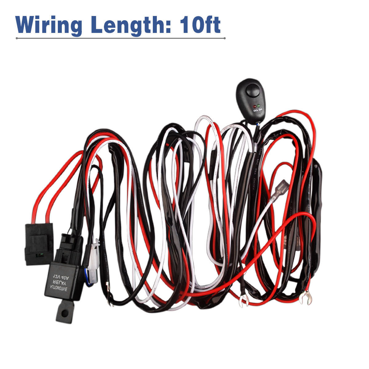hight resolution of led light bar wiring harness double wire single wire remote controlled