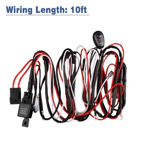 small resolution of led light bar wiring harness double wire single wire remote controlled