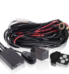 led light bar wiring harness double wire single wire remote controlled [ 1500 x 1500 Pixel ]