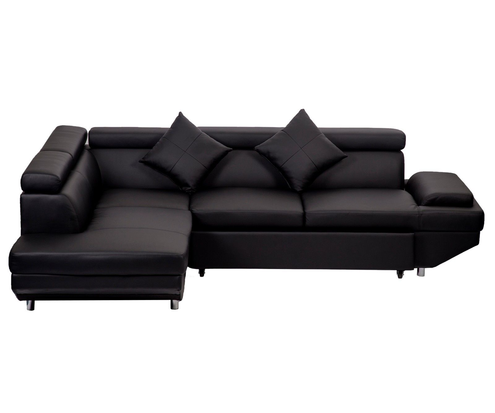 corner sofa leather ebay best reclining manufacturer new modern contemporary sectional bed