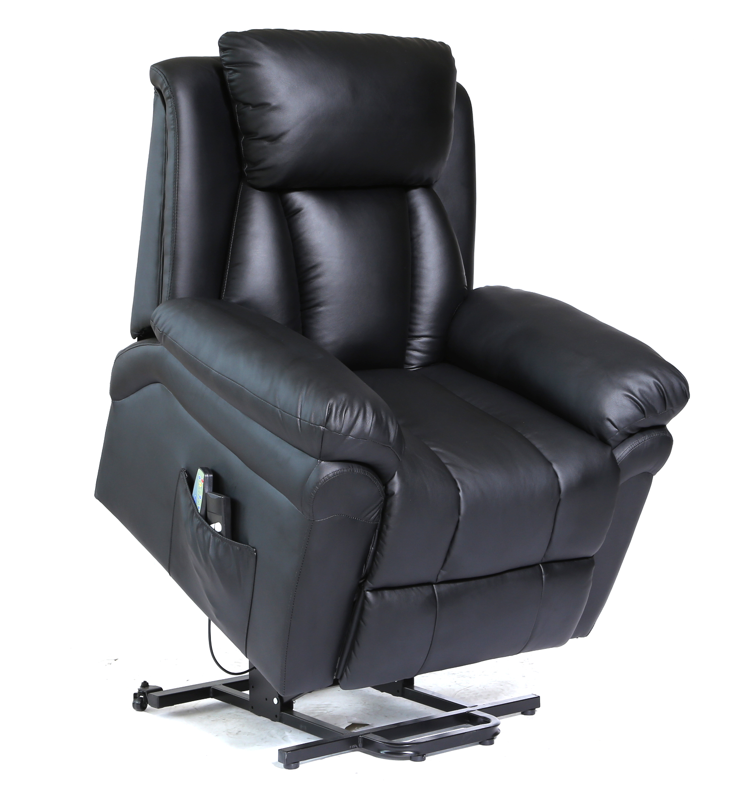gray leather sofa recliner cushion ideas for white 10 in 1 massage swivel chair & power lift ...