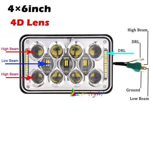 small resolution of new super bright 60w cree 4x6 headlight truck light ln006