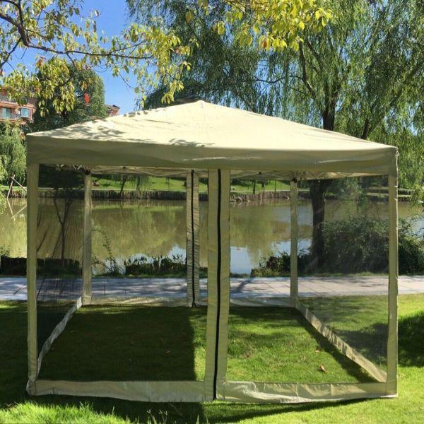 10x10 Pop Tent & Bug Screen Gazebo Party 1010pt - Uncle Wiener'