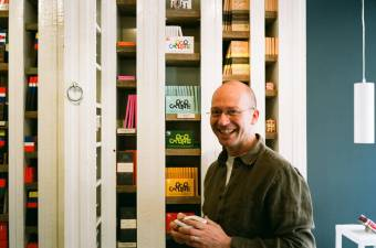 Erik Spande, owner of Chocolátl, a chocoholic's Nirvana on Hazenstraat