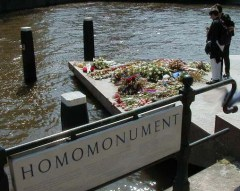 Like gay people in society, Amsterdam's Homomonument is easy to miss.