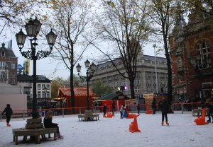 A skating rink in Leidseplein is a sure sign the holiday season has arrived.