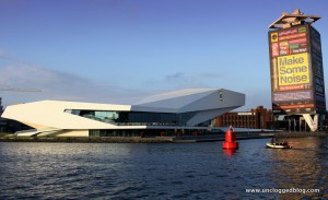 The Eye Film Institute perches like an ivory spaceship on the Ij River.