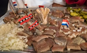 Dutch herring with flags
