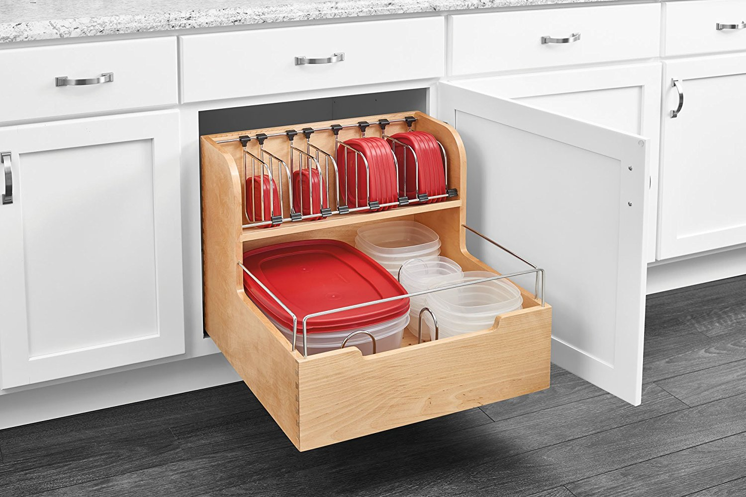 kitchen drawer organizer corner table with bench 21 brilliant ways to organize cabinets you 39ll kick