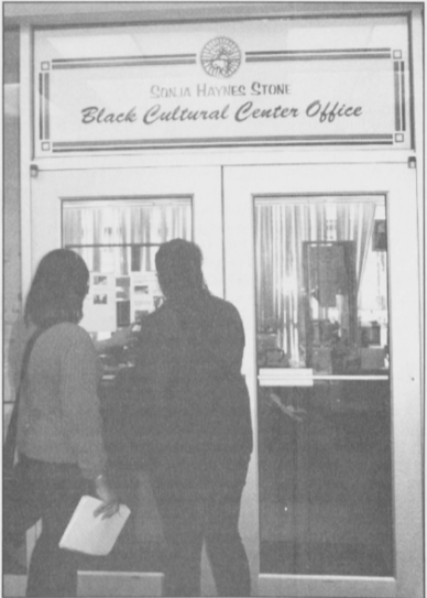 Black Cultural Center Office, Black Ink, 1 May 2001, Page 4.