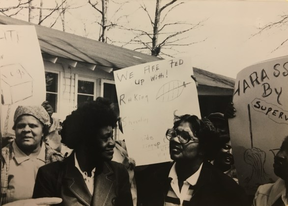 Rally led by Housekeepers, March 1980 in the John Kenyon Chapman Papers #5441, Southern Historical Collection, Wilson Library, The University of North Carolina at Chapel Hill.