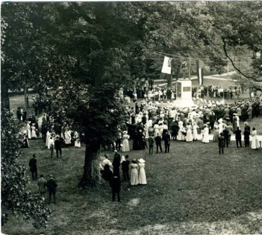 Unveiling of the Confederate Monument, June 2, 1913 in Orange County, North Carolina Postcard Collection #P052, North Carolina Collection, Photographic Archives, Wilson Library, The University of North Carolina at Chapel Hill.
