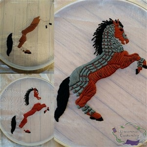 House of Black and White, Horse Embroidery