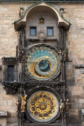 Prague's astronomical clock. Photo by Steve Collis.