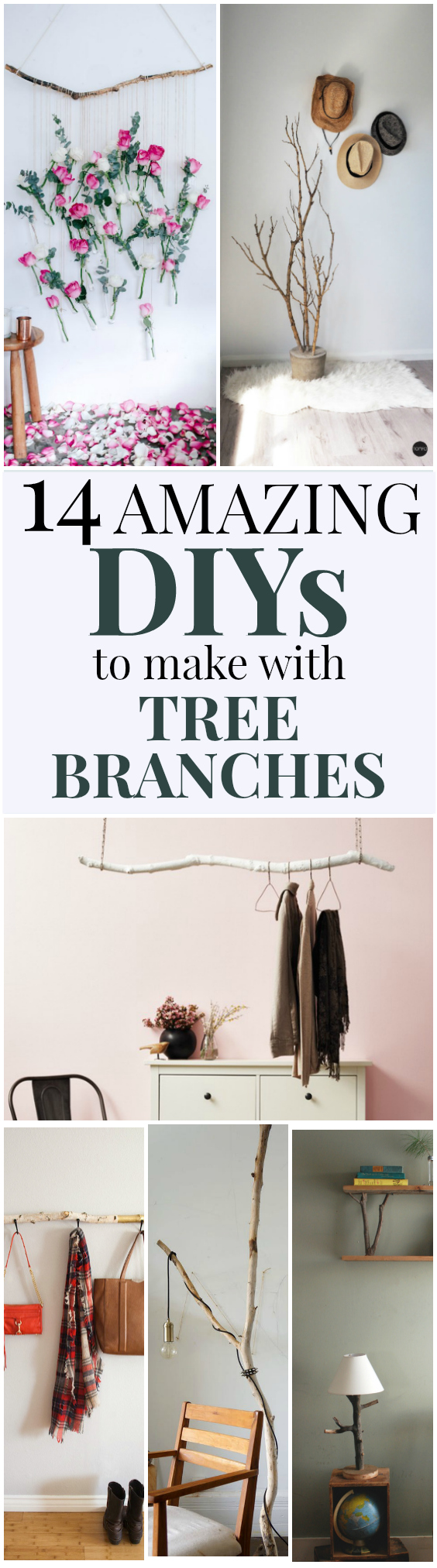 14 DIY Tree Branch Decor Projects - Uncommonly Well