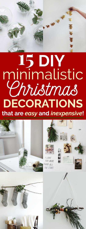 15 Easy Minimalistic Christmas Decor Ideas