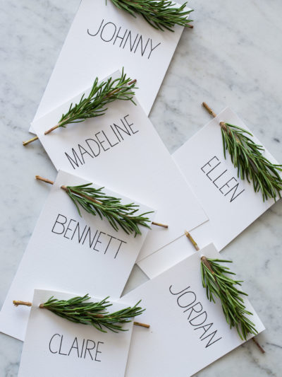15 minimalist christmas decor diys uncommonly well rosemary sprig place card diys solutioingenieria Images