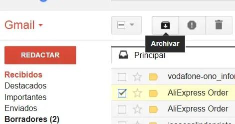archivar Gmail