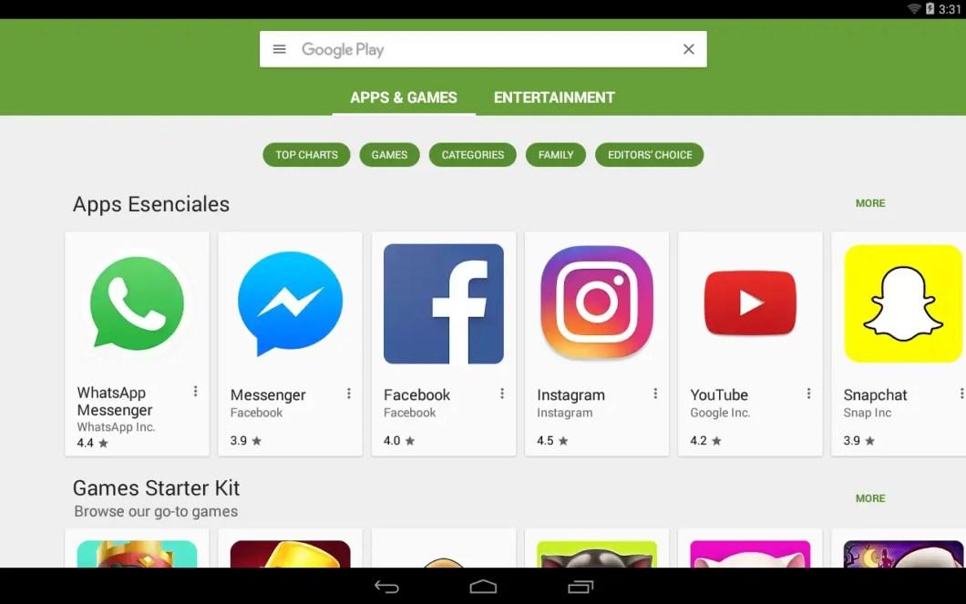 aplicaciones google play store