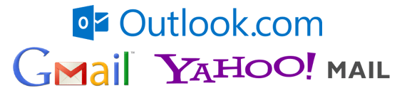 Gmail, Outlook y Yahoo! Mail