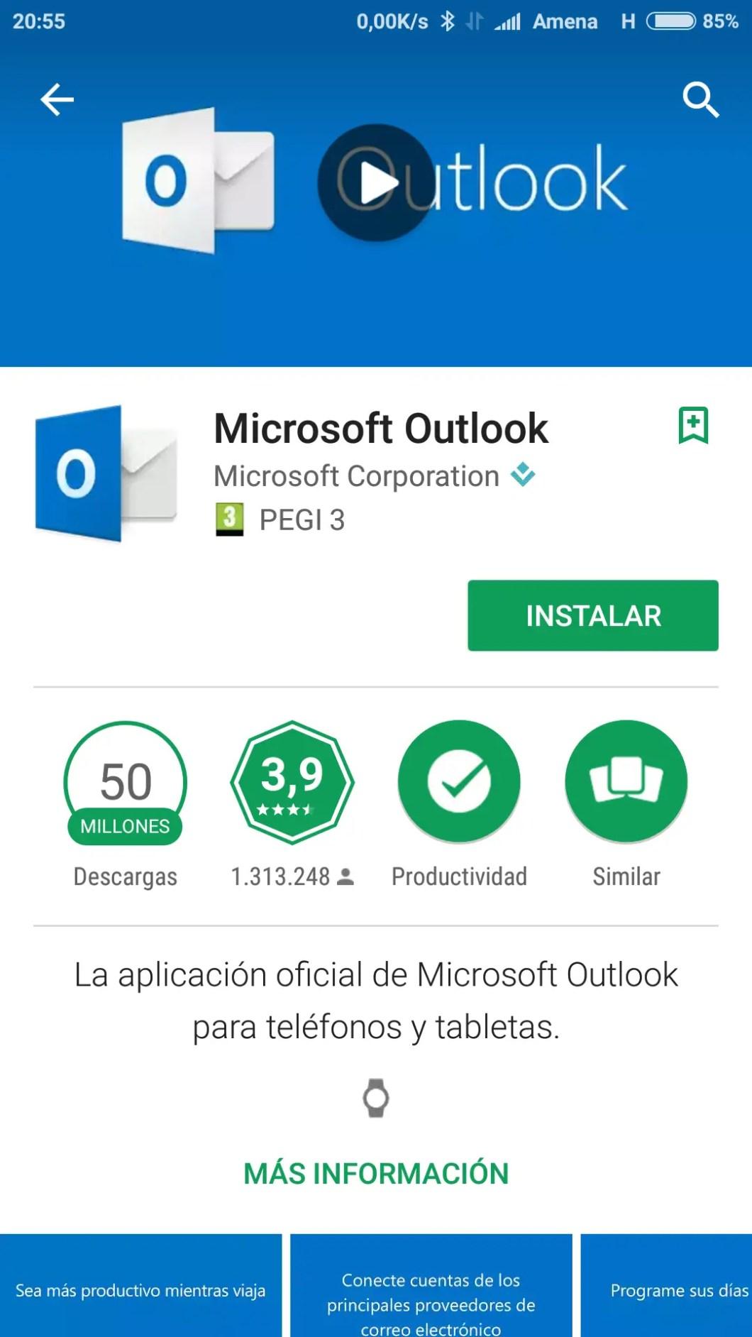 Microsoft Office en Play Store