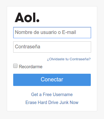 iniciar sesión en AOL latino