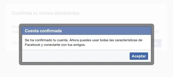 cuenta confirmada facebook spotify