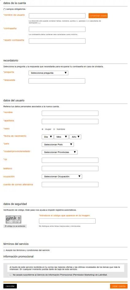 registro latinmail