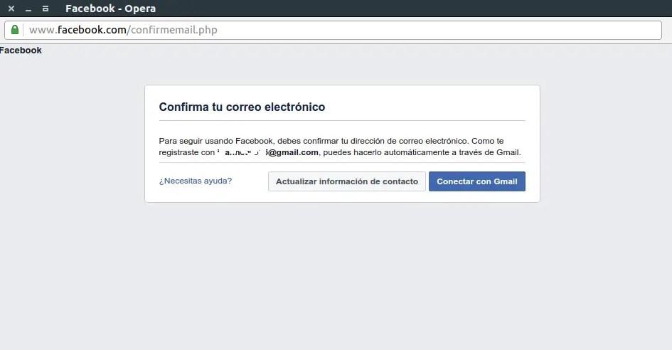 verificación de Facebook en Spotify