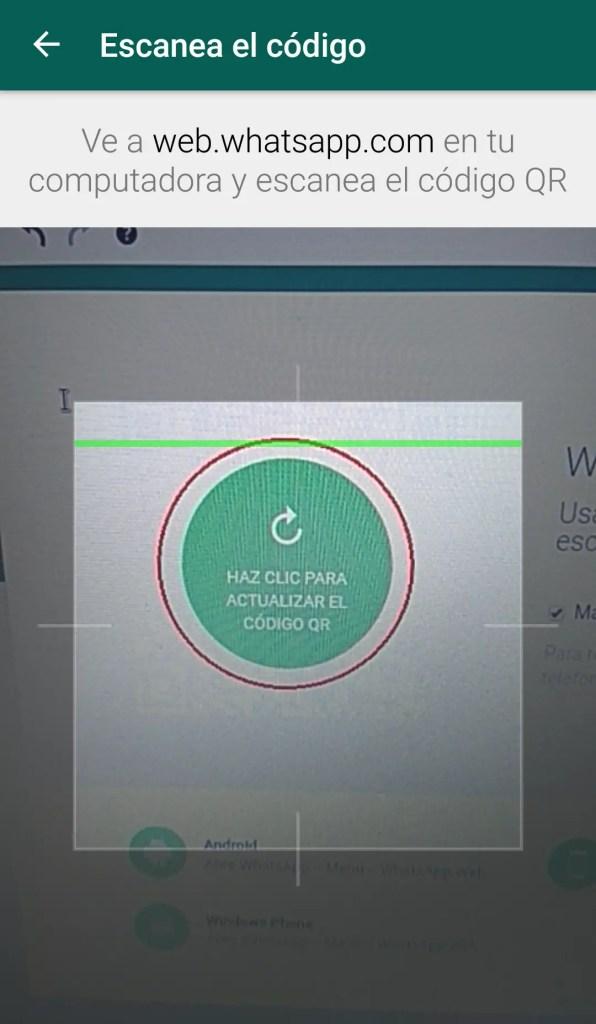 escanear código QR de Whatsapp