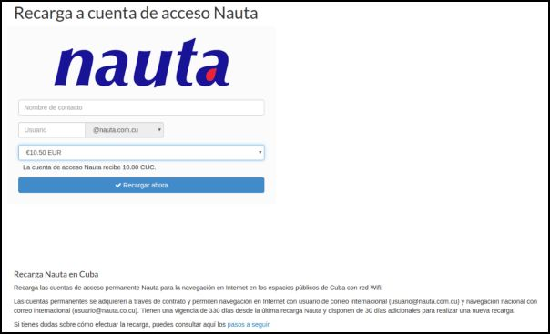 Recargas Nauta