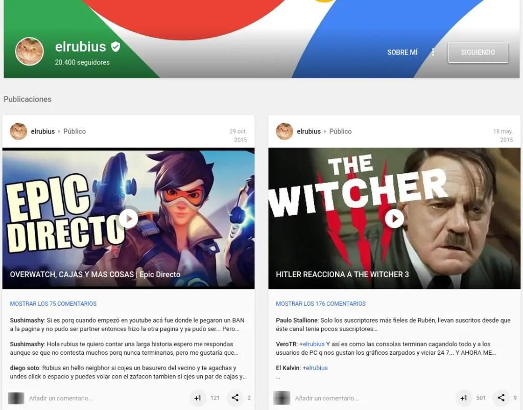 elrubius en Google Plus