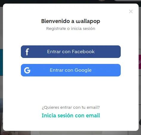 iniciar sesión Wallapop Web