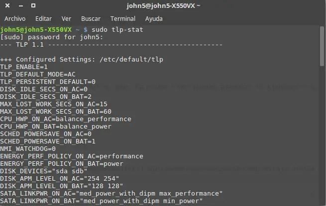 configuracion tlp