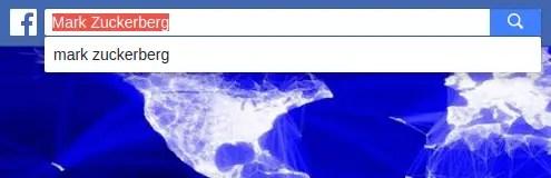 """búsqueda por """"mark zuckerberg"""" en Facebook"""